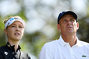Nelly Korda (Usa) and former tenniman Guy Forget competes during the Rolex Pro-Am of LPGA Evian Championship 2018, Day 3, at Evian Resort Golf Club, in Evian-Les-Bains, France, on September 12, 2018, Photo Philippe Millereau / KMSP / ProSportsImages / DPPI