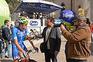 39° Giro del Trentino Melinda, 4° tappa Malè Cles,Gianni Moscon con la Nazionale Italiana,24 aprile 2015 © foto Daniele Mosna