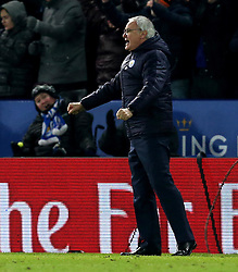 Leicester City manager Claudio Ranieri celebrates Demarai Gray of Leicester City scoring a goal - Mandatory by-line: Robbie Stephenson/JMP - 08/02/2017 - FOOTBALL - King Power Stadium - Leicester, England - Leicester City v Derby County - Emirates FA Cup fourth round replay