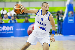 Afik Nissim #5 of Israel during basketball match between National teams of Israel and Belgium at Day 5 of Eurobasket 2013 on September 8, 2013 in Tivoli Hall, Ljubljana, Slovenia. (Photo By Urban Urbanc / Sportida)