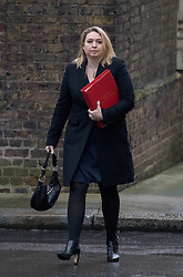 © Licensed to London News Pictures. 31/01/2017. London, UK. Secretary of State for Culture, Media and Sport Karen Bradley arriving at Downing Street for a cabinet meeting this morning. Photo credit : Tom Nicholson/LNP