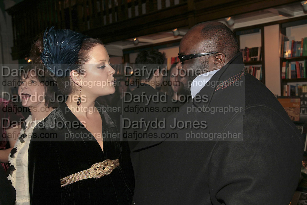Lady Eloise Anson and Ade, Book launch of Pretty Things by Liz Goldwyn at Daunt <br />Books, Marylebone High Street. London 30 November 2006.   ONE TIME USE ONLY - DO NOT ARCHIVE  &copy; Copyright Photograph by Dafydd Jones 248 CLAPHAM PARK RD. LONDON SW90PZ.  Tel 020 7733 0108 www.dafjones.com