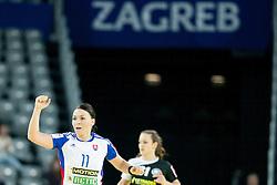 Andrea Czanik #11 of Slovakia at handball match between Germany and Slovakia at 11th EHF European Women's Handball Championship Hungary-Croatia 2014, on December 17, 2014 in Arena Zagreb, Zagreb, Croatia. Photo By Urban Urbanc / Sportida