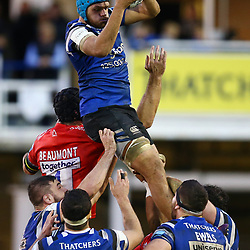 Zach Mercer of Bath Rugby during the Gallagher Premiership match between Bath Rugby and Sale Sharks at the The Recreation Ground Bath England.2nd December 2018,(Photo by Steve Haag Sports)