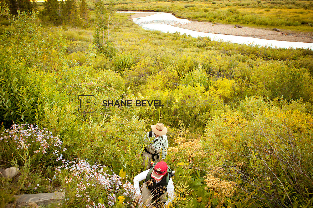 Fly fishing in Crested Butte, Colorado on Cement Creek and East River. ..Photo by Shane Bevel