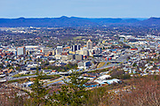 View of the Roanoke, Virginia skyline and Allegheny Mountains from Mill Mountain