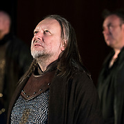 March 24, 2016 - New York, NY : Jasper Britton, foreground center, performs as Bolingbroke during a photo call/dress rehearsal for The Royal Shakespeare Company's (RSC) Richard II at the Brooklyn Academy of Music's (BAM) Harvey Theater in Brooklyn on Thursday afternoon. The production, which is being directed by RSC Artistic Director Gregory Doran as part of Shakespeare's Great Cycle of Kings, marks the 400th anniversary of William Shakespeare's death.  CREDIT: Karsten Moran for The New York Times