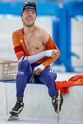 11-12-2016 NED: ISU World Cup Speed Skating, Heerenveen<br /> Jorrit Bergsma wint de 10.000 meter tijdens de World Cup Schaatsen in Thialf