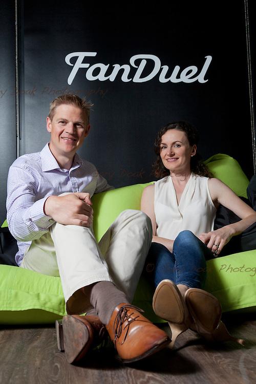 Nigel and Lesley Eccles. Co-founders of online fantasy sports platform, Fanduel