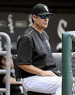 CHICAGO - SEPTEMBER 05:  Manager Robin Ventura #23 of the Chicago White Sox looks on against the Detroit Tigers on September 5, 2016 at U.S. Cellular Field in Chicago, Illinois.  The Tigers defeated the White Sox 5-3. (Photo by Ron Vesely)   Subject:   Robin Ventura