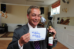 &copy; Licensed to London News Pictures. 03/06/2017<br /> Nigel Farage speaking at a UKIP public meeting in Ramsgate,Kent at Townley Hall in support of UKIP Thanet candidate REV Stuart Piper.<br /> Photo credit: Grant Falvey/LNP