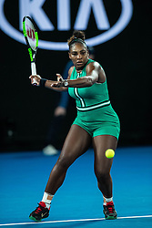 January 21, 2019 - Melbourne, VIC, U.S. - MELBOURNE, VIC - JANUARY 21: SERENA WILLIAMS (USA) during day eight match of the 2019 Australian Open on January 21, 2019 at Melbourne Park Tennis Centre Melbourne, Australia (Photo by Chaz Niell/Icon Sportswire (Credit Image: © Chaz Niell/Icon SMI via ZUMA Press)
