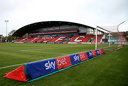 A general view of SkyBet branding pitch side at Highbury Stadium - Mandatory by-line: Matt McNulty/JMP - 27/04/2019 - FOOTBALL - Highbury Stadium - Fleetwood, England - Fleetwood Town v Bristol Rovers - Sky Bet League One