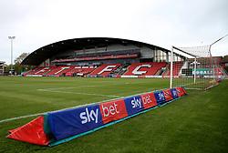 A general view of SkyBet branding pitch side at Highbury Stadium - Mandatory by-line: Matt McNulty/JMP - 27/04/2019 - FOOTBALL - Highbury Stadium - Fleetwood, England - Fleetwood Town v Bristol Rovers - Sky Bet League One