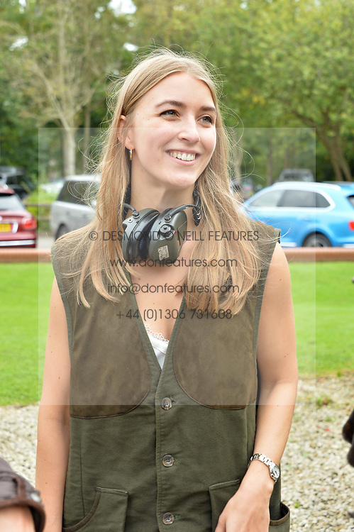 Selina Helenius at Young Guns raising money for the fight against breast cancer trough Cancer Research UK held at EJ Churchill Shooting School followed by lunch at West Wycombe Park, England. 23 September 2017.