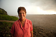 Gina Low of APECA, Amazon River, Peru
