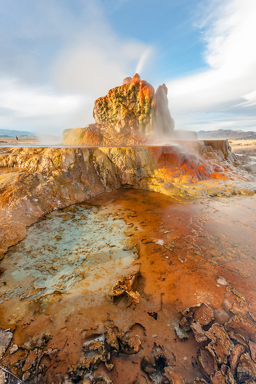 """Fly Geyser 4"" - Photograph of the famous man made Fly Geyser in Nevada."