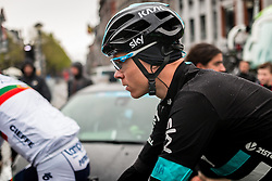 Christopher Froome (GBR) of Team Sky at Li&egrave;ge, before the start of the 102th edition of Li&egrave;ge-Bastogne-Li&egrave;ge race running 253 km from Li&egrave;ge to Li&egrave;ge, Belgium, 24 April 2016.<br /> Photo by Pim Nijland / PelotonPhotos.com<br /> <br /> All photos usage must carry mandatory copyright credit (&copy; Peloton Photos | Pim Nijland)