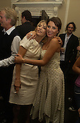 Jemima French and Sadie Frost, Franc Roddam and Frost French host a party to celebrate the publication of ' Margarita's Olive Press' by Rodney Shileds. 1 Greek St. Soho Sq. London. 15 September 2005.  ONE TIME USE ONLY - DO NOT ARCHIVE  © Copyright Photograph by Dafydd Jones 66 Stockwell Park Rd. London SW9 0DA Tel 020 7733 0108 www.dafjones.com