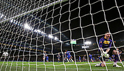 GOAL - Chelsea Midfielder Willian scores a penalty kick past Sheffield Wednesday goalkeeper Keiren Westwood (1)  who looks dejected 1-0 during the The FA Cup fourth round match between Chelsea and Sheffield Wednesday at Stamford Bridge, London, England on 27 January 2019.