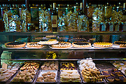 Cakes and pastries in Fabbrica Taddeucci patisserie shop and cafe in Piazza San Michele, Lucca, Italy