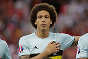 Belgium midfielder Axel Witsel (6) during the Euro 2016 match between Sweden and Belgium at Stade de Nice, Nice, France on 22 June 2016. Photo by Andy Walter.