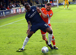 September 30, 2017 - Southend, England, United Kingdom - Nile Ranger of Southend United holds of Blackpool's Jimmy Ryan.during Sky Bet League one match between Southend United against Blackpool at  Roots Hall,  Southend on Sea England on 30 Sept  2017  (Credit Image: © Kieran Galvin/NurPhoto via ZUMA Press)