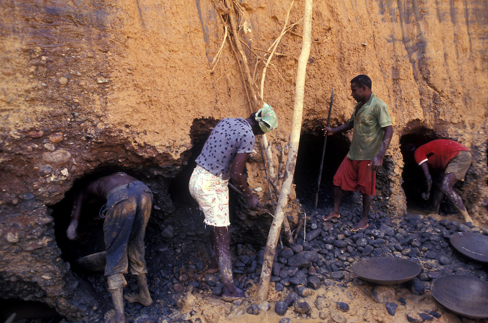 gold miners near Quibdo, El Choco, Colombia