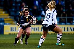 Meg Varley of Worcester Warriors Women takes on Charlie Budge of Bristol Bears Women - Mandatory by-line: Robbie Stephenson/JMP - 01/12/2019 - RUGBY - Sixways Stadium - Worcester, England - Worcester Warriors Women v Bristol Bears Women - Tyrrells Premier 15s