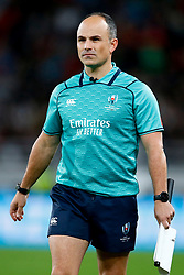 Assistant Referee: Jaco Peyper (South Africa) during the Bronze Final match between New Zealand and Wales Mandatory by-line: Steve Haag Sports/JMPUK - 01/11/2019 - RUGBY - Tokyo Stadium - Tokyo, Japan - New Zealand v Wales - Bronze Final - Rugby World Cup Japan 2019