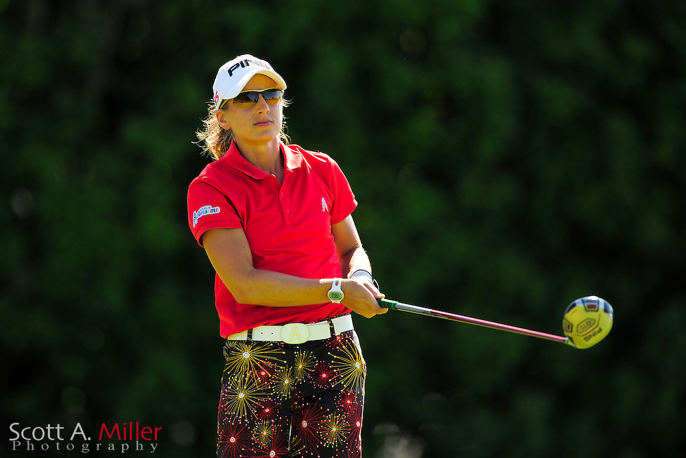 Laura Kueny during the final round of the Symetra Tour's Guardian Retirement Championship at Sara Bay in Sarasota, Florida April 28, 2013. ..©2013 Scott A. Miller