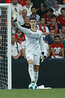 ISTANBUL, TURKEY - AUGUST 14: Kepa Arrizabalaga of Chelsea gestures during the UEFA Super Cup match between Liverpool and Chelsea at Vodafone Park on August 14, 2019 in Istanbul, Turkey. (Photo by MB Media/Getty Images)