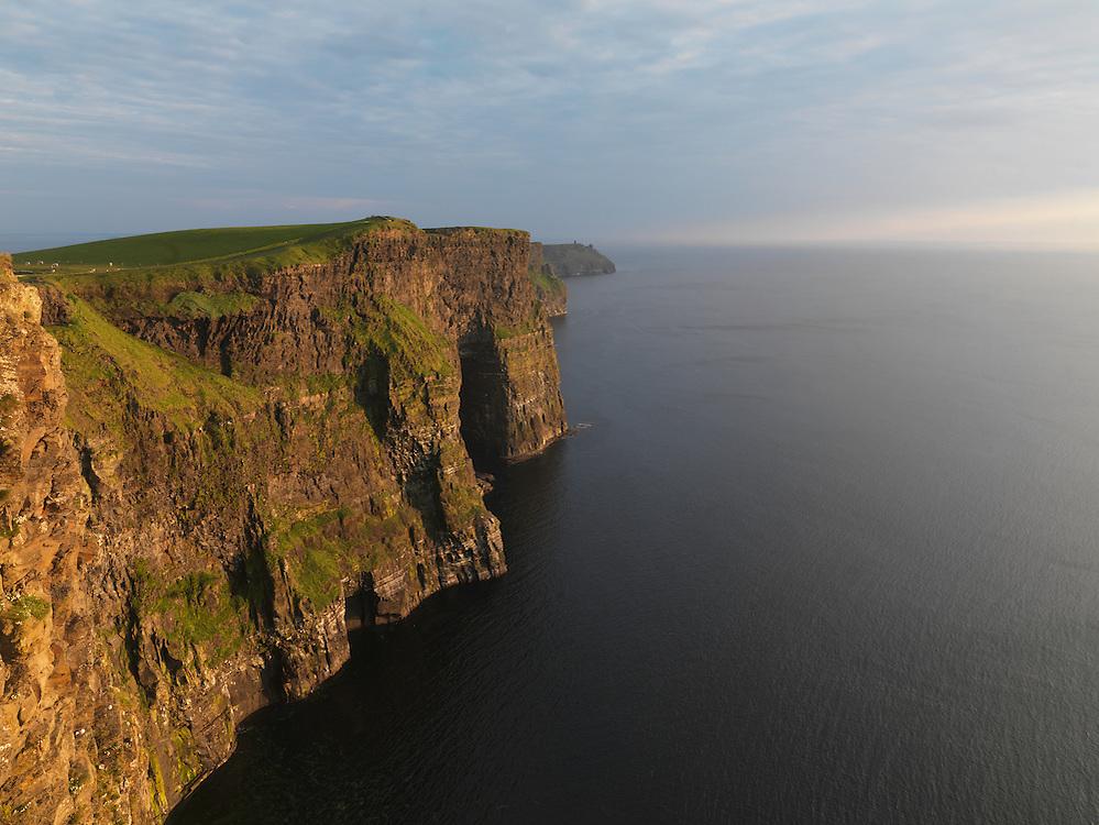 Ireland western coast Burren region Cliffs of Moher limestone landscape