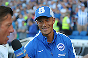 Bobby Zamora of Brighton & Hove Albion before the Sky Bet Championship match between Brighton and Hove Albion and Nottingham Forest at The American Express Community Stadium, Brighton and Hove, England on 7 August 2015. Photo by Phil Duncan.