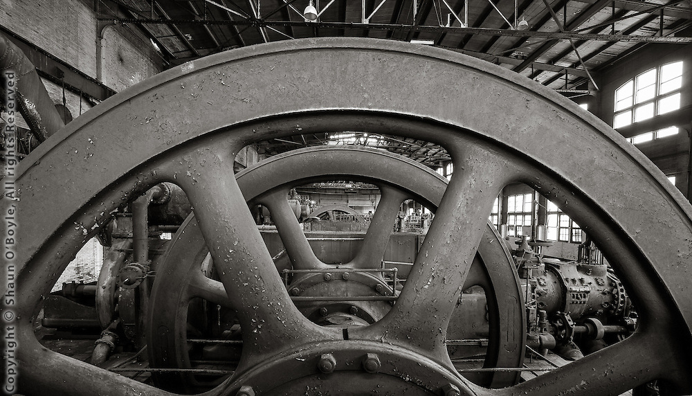 Flywheel in Gas Blowing Engine Room, Bethlehem Steel Mill, Bethlehem, PA