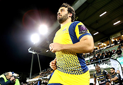 Marco Mama of Worcester Warriors runs out at Brive for the European Challenge Cup fixture - Mandatory by-line: Robbie Stephenson/JMP - 14/01/2017 - RUGBY - Stade Amedee-Domenech - Brive-la-Gaillarde,  - Brive v Worcester Warriors - European Challenge Cup