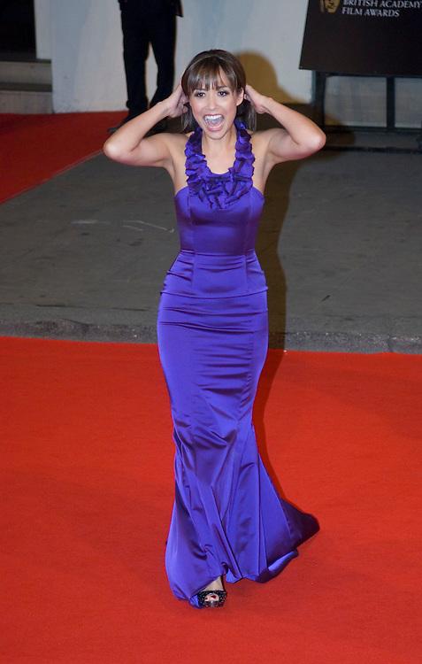 LONDON - FEBRUARY 10: Mylene Klass arrives  at the Orange British Academy Film Awards at the Royal Opera House on February 10, 2008 in London, England.