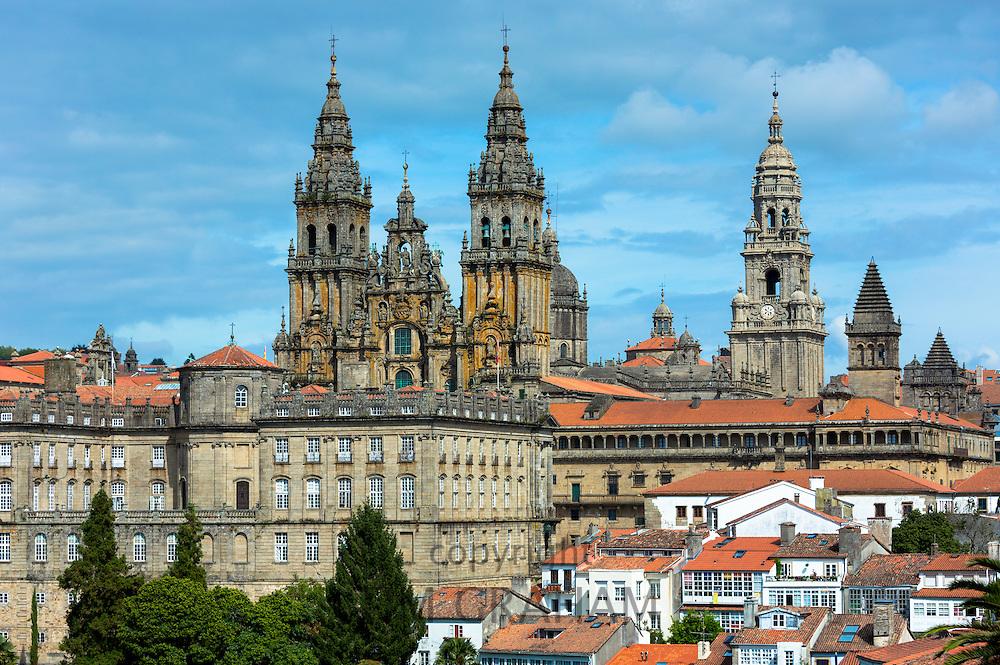 Catedral de Santiago de Compostela, Roman Catholic cathedral, cityscape, Galicia, Northern Spain