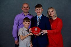 NEWPORT, WALES - Saturday, May 19, 2018: Dan Malone and family during the Football Association of Wales Under-16's Caps Presentation at the Celtic Manor Resort. (Pic by David Rawcliffe/Propaganda)