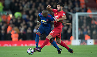 Football - 2016 / 2017 Premier League - Liverpool vs. Manchester United<br /> <br /> Liverpool's Emre Can tackles Manchester United's Ashley Young during the match at Anfield.<br /> <br /> COLORSPORT