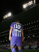 Andre-Pierre Gignac leaves the pitch after another match winning performance. Toulouse v Saint Etienne (3-1), 2eme Journee, Ligue 1 2009/2010, Stade Municipal, Toulouse, France, 15th August 2009.