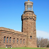 North Tower of the Twin Lights of the Navesink Lighthouse, New Jersey, USA