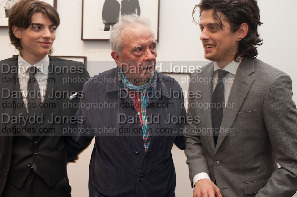 SACHA BAILEY; DAVID BAILEY; FENTON BAILEY, Opening of Bailey's Stardust - Exhibition - National Portrait Gallery London. 3 February 2014