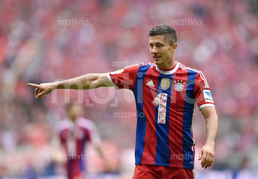 Fussball  1. Bundesliga  Saison 2014/2015   3. SPIELTAG FC Bayern Muenchen - VfB Stuttgart       13.09.2014 Robert Lewandowski (FC Bayern Muenchen)
