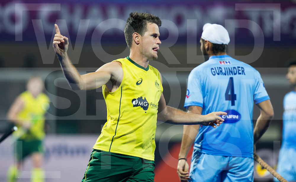 BHUBANESWAR (India) -  Hero Champions Trophy hockey men. Match for bronze. Australia vs India. Matt Gohdes of Australia makes the 2-1. Photo Koen Suyk