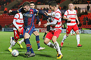 Bradford City forward Shay McCartan battles for the ball during the EFL Sky Bet League 1 match between Doncaster Rovers and Bradford City at the Keepmoat Stadium, Doncaster, England on 19 March 2018. Picture by Aaron  Lupton.