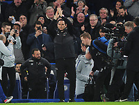 Football - 2018 / 2019 EFL Carabao (League) Cup - Fourth Round: Chelsea vs. Derby County<br /> <br /> Ex Chelsea player and now Derby Manager, Frank Lampard applaudes the Chelsea fans on his return to the ground, at Stamford Bridge.<br /> <br /> COLORSPORT/ANDREW COWIE