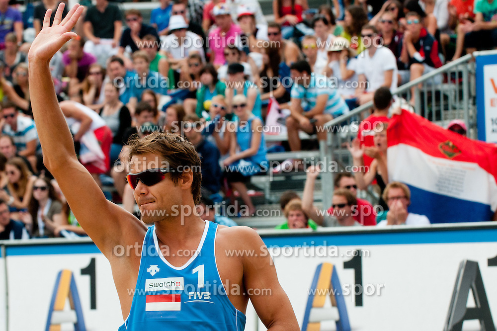Reinder Nummerdor of Netherland at A1 Beach Volleyball Grand Slam tournament of Swatch FIVB World Tour 2011, on August 5, 2011 in Klagenfurt, Austria. (Photo by Matic Klansek Velej / Sportida)