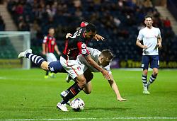 Josh King of Bournemouth is fouled - Mandatory byline: Matt McNulty/JMP - 07966386802 - 22/09/2015 - FOOTBALL - Deepdale Stadium -Preston,England - Preston North End v Bournemouth - Capital One Cup - Third Round