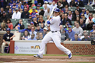 CHICAGO - MAY 17:  Anthony Rizzo #44 of the Chicago Cubs bats against the New York Mets on May 17, 2013 at Wrigley Field in Chicago, Illinois.  The Mets defeated the Cubs 3-2.  (Photo by Ron Vesely/MLB Photos via Getty Images)  *** Local Caption *** Anthony Rizzo